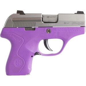 """Beretta Pico .380 ACP Semi Auto Pistol 2.7"""" Barrel 6 Rounds Two Tone Polymer Frame Inox/Lavender Finish"""