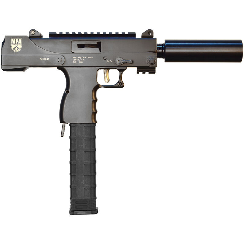 MasterPiece Arms Defender Side Cocking Semi Automatic Pistol 9mm Luger 6
