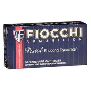 Fiocchi Pistol Shooting Dynamics .45 ACP Ammunition 200 Grain JHP 890 fps