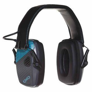 Allen Girls With Guns Shield Low-Profile Electronic Earmuffs, 24 dB NRR, Gray/Teal/Black