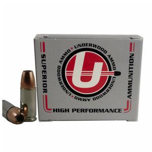 Underwood Ammo 9mm +P+ Ammunition 20 Rounds 124 Speer Grain Bonded JHP 1300 fps