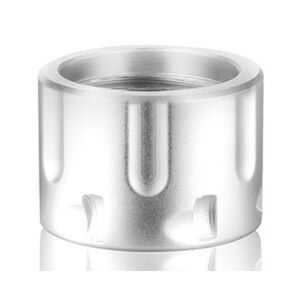 Backup Tactical AR-15 1/2x28 Thread Protector Revolver Cylinder Aluminum Silver