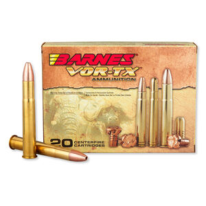 Barnes VOR-TX Safari .470 Nitro Express Ammunition 20 Rounds 500 Grain TSX FB HP Lead Free 2150 fps