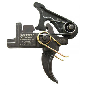 Geissele AR-15 Hi-Speed National Match Trigger Colt Large Pin Two Stage Adjustable Curved Shoe Black 05-150