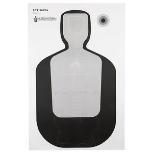 """Action Target TQ-19 Qualification Target with Vital Anatomy 23""""x35"""" Paper Target Black and Gray 100 Pack"""