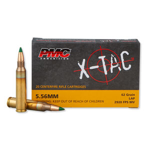 PMC X-TAC 5.56 NATO Ammunition 20 Rounds, M855 FMJ, 62 Grains