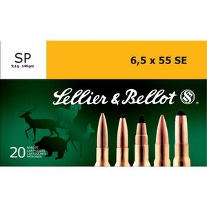 Sellier & Bellot 6.5x55 Swedish Ammunition 20 Rounds 140 Grain Soft Point Projectile 2,602fps