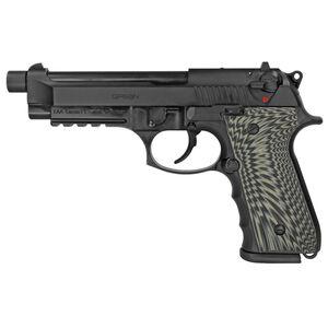 "EAA GiRSAN Regard MC BX 9mm Luger Semi Auto Pistol 5"" Threaded Barrel 18 Rounds Beretta 92 Style Pistol Ambidextrous Safety Matte Black Finish"