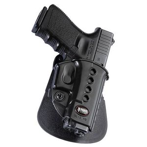 Fobus Evolution Holster Glock 17,19,22,23/Kahr CW40,PM40/Walther PK380 Right Hand Roto-Paddle Attachment Polymer Black