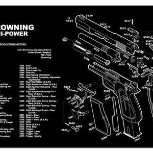 "JE Machine 11"" x 17"" Handgun Cleaning Mat with Browing High Power Imprint"