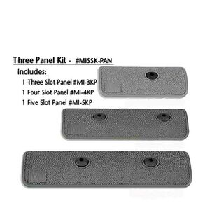 Midwest Industries AR-15 Three Piece KeyMod Panel Kit Polymer Black MI-SSK-PAN
