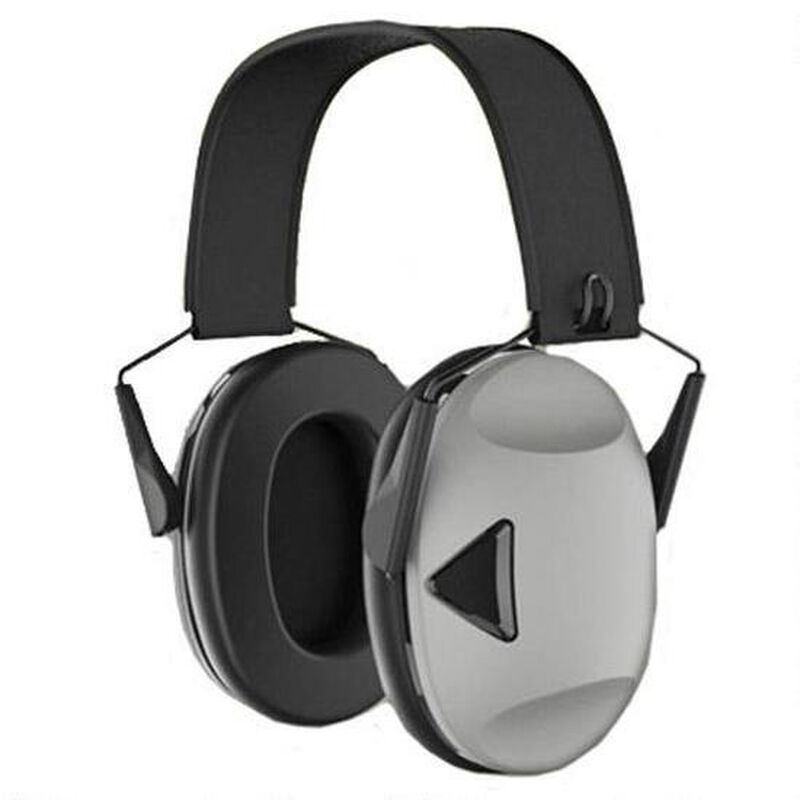 Peltor RangeGuard Electronic Earmuffs 21dB Noise Reduction Rating Over the Head Low Profile Two AAA Batteries Black/Gray RG-OTH-4