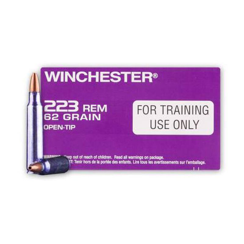 Winchester LE Training Ammunition .223 Remington 62 Grain Open Tip Q3340