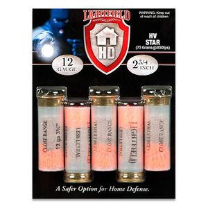 "Lightfield Home Defender 12 Gauge Ammunition 5 Rounds 2-3/4"" HV Star 850fps"
