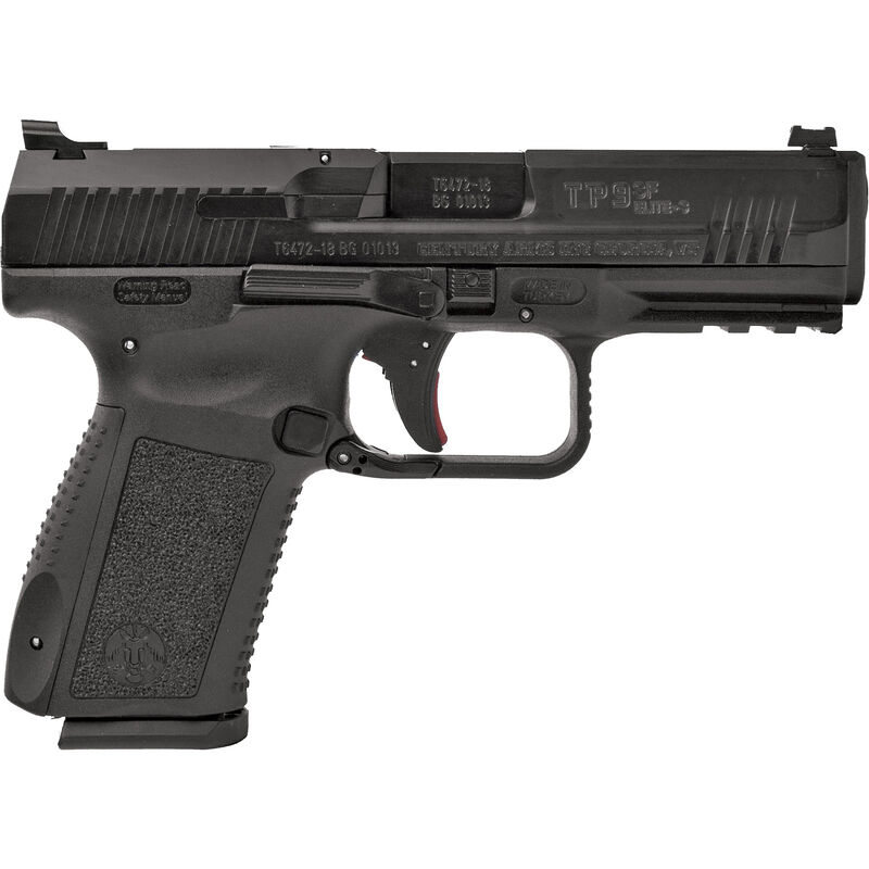 "Canik TP9SF Elite-S 9MM Luger Semi Auto Pistol, 4.19"" Match Grade Barrel, 15 Rounds, Warren Tactical Sights, Polymer Frame, Black Finish"