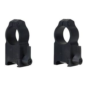"Warne Maxima QD 1"" Weaver/Picatinny Ultra High Scope Ring 2 pack Matte Black 204LM"