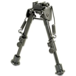 "Leapers UTG Tactical OP Bipod Adjustable 6.1"" to 7.9"" Aluminum Black TL-BP78"