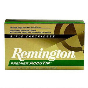 Remington .22-250 Remington Ammunition 20 Rounds, Accutip-V, 50 Grains