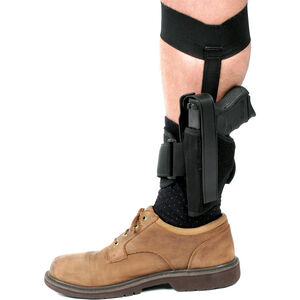 BLAKCHAWK! .22 to .25 Caliber Small Autos Ankle Holster Size 10 Left Hand Black 40AH10BKL