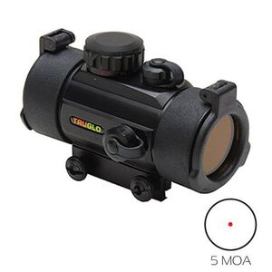 TRUGLO 40mm Traditional Red Dot Sight 5 MOA Dot Black