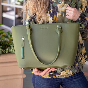 Tactica Defense Fashion Contemporary Conceal Carry Handbag Purse Shoulder Bag Ambidextrous Polyurethane Red