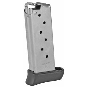 Springfield Armory 911 7 Round Magazine 9mm Luger Extended Polymer Finger Rest Stainless Steel Natural Finish