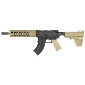"Diamondback Firearms DB15 AR-15 7.62x39 Semi Auto Pistol 10"" Barrel 28 Rounds Free Float Hand Guard Shockwave Blade Stabilizing Brace Flat Dark Earth"