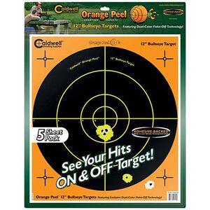 "Caldwell Orange Peel Adhesive Bullseye Targets 12"" 5-Pack 120556"