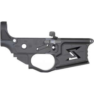 Seekins Precision NX15 Stripped AR-15 Lower Receiver with Ambi Bolt Release 7075-T6 Billet Aluminum Multi-Cal Marked Skeletonized Design Anodized Black