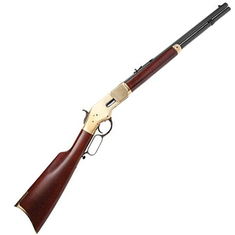 """Cimarron 1866 Yellowboy Lever Action Sporting Rifle .32-20 Winchester 24"""" Barrel 12 Rounds Brass Receiver Wood Stock Blued Finish"""