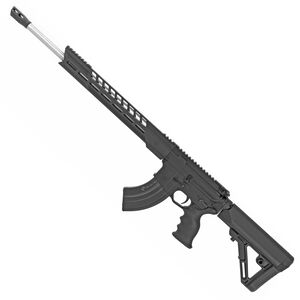 "Diamondback Firearms DB15 AR-15 Semi Auto Rifle .224 Valkyrie 18"" Barrel 20 Rounds M-LOK Free Float Hand Guard Collapsible Stock Matte Black Finish"