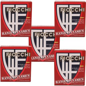 Fiocchi Range Dynamics .40 S&W Ammunition 1000 Rounds 170 Grain Full Metal Jacket Truncated Cone 1020fps