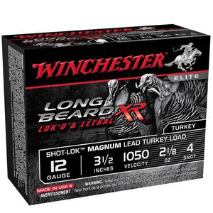 "Winchester Long Beard XR 12 Ga 3.5"" #4 Lead 10 Rounds"
