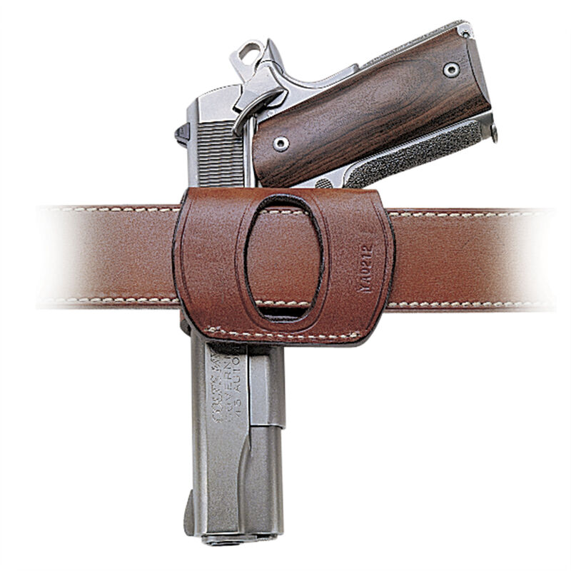 DeSantis Yaqui Slide Belt Holster Large/Medium Autos Right Hand Leather Black