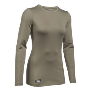 Under Armour Coldgear Infrared Tactical Women's Crew Long Sleeve Shirt Med Polyester/Elastane Federal Tan