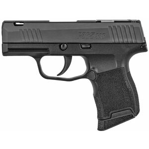 "SIG Sauer P365 SAS 9mm Luger Semi Auto Pistol 3.1"" Barrel 10 Rounds Flush Mounted FT Bullseye Sights Polymer Frame Matte Black Finish"