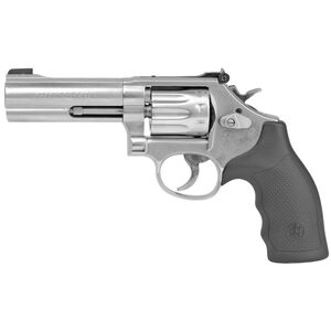 """S&W Model 617 .22 LR Revolver  4"""" Barrel 10 Rounds Adjustable Sights Rubber Grips Satin Stainless Steel Finish"""