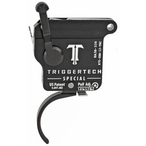 Trigger Tech Remington 700 Special Drop In Replacement Trigger Right Hand/Bolt Release/Curved Lever PVD Black Finish