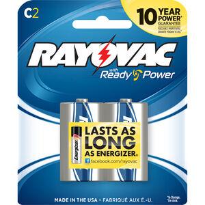 Rayovac C-Cell Mercury Free Alkaline Batteries 2-Pack