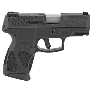 "Taurus G2c Semi Auto Pistol 9mm Luger 3.2"" Barrel 12 Rounds 3 Dot Sights Black Slide and Polymer Frame"