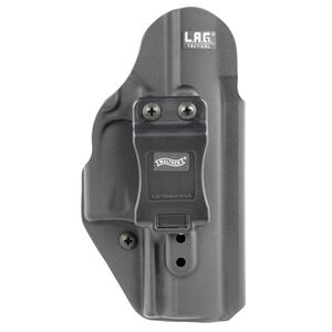 Walther LAG Tactical IWB Holster for Walther PPQ Models Ambidextrous Draw Kydex Construction Matte Black Finish
