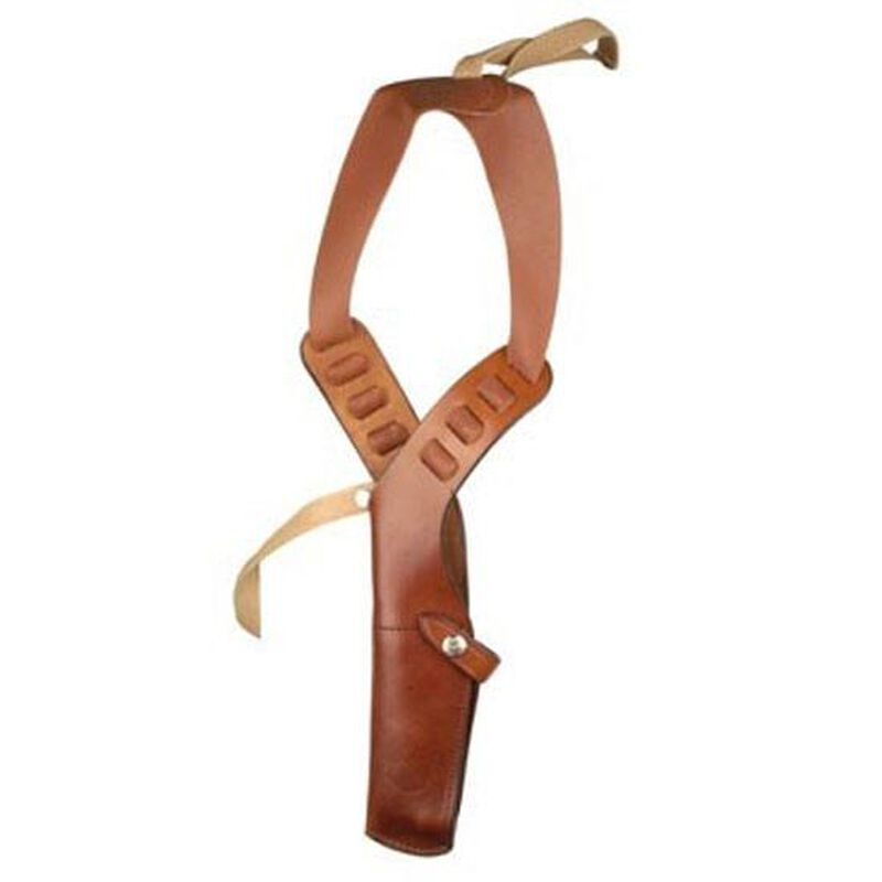 Bianchi X15 Shoulder Holster Glock 17, 19, 20, 21, 22, 23, HK USP 40, 45, Ruger P85, Sig Sauer P226 Rig Right Hand Leather Lined Leather Tan 22208