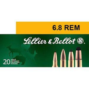 Sellier & Bellot 6.8 SPC Ammunition 20 Rounds PTS 110 Grains SB68B