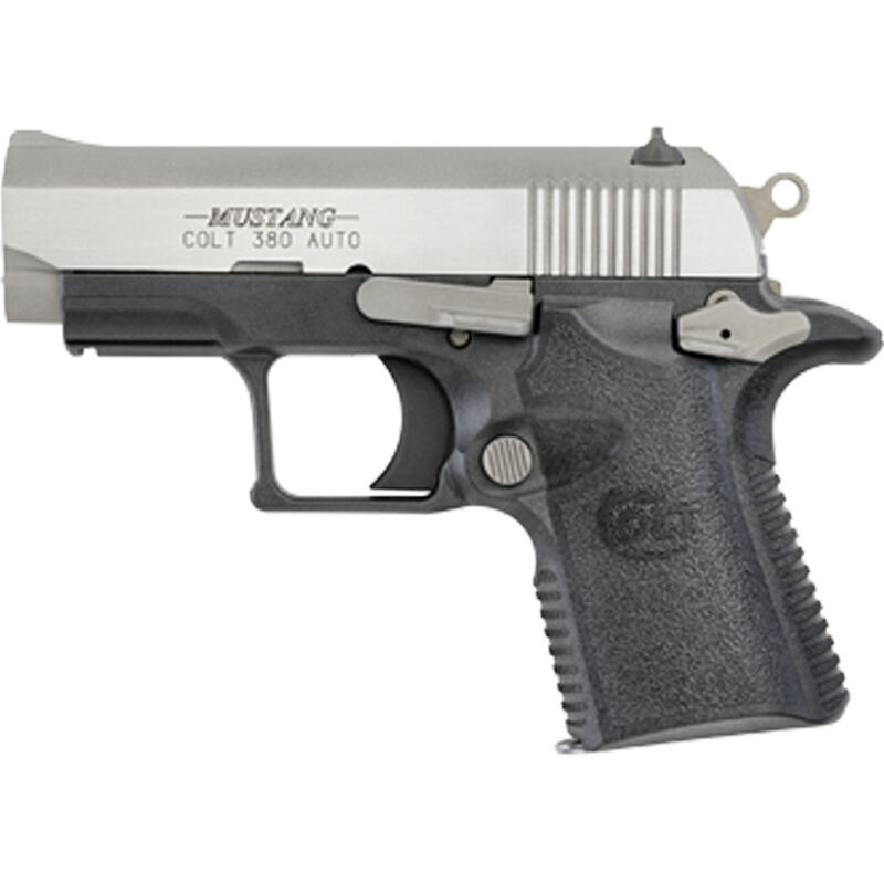 """Colt Mustang Lite Semi Auto Pistol .380 ACP 2.75"""" Barrel 6 Rounds Ramp Front Sight/Dovetail Rear Polymer Tactical Grip Profile Polymer Frame Matte Black Finish"""