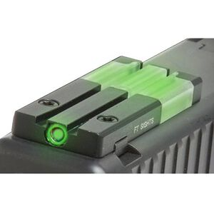 Mako Group Mepro FT Bullseye Micro Optic Pistol Sight Fiber Optic/Tritium Green Springfield XD/XD(M)/XD-S Models Alloy Housing Matte Black Finish