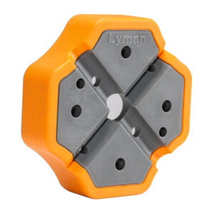 Lyman X-Block Gunsmith Bench Block Polymer Orange/Gray 04078