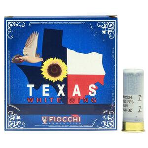 """Fiocchi Texas White Wing 20 Gauge Ammunition 2-3/4"""" #7.5 Shot 7/8oz Lead 1210fps"""