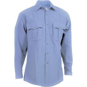 Elbeco Men's TexTrop2 Long Sleeve Shirt, Blue, 17.5x33