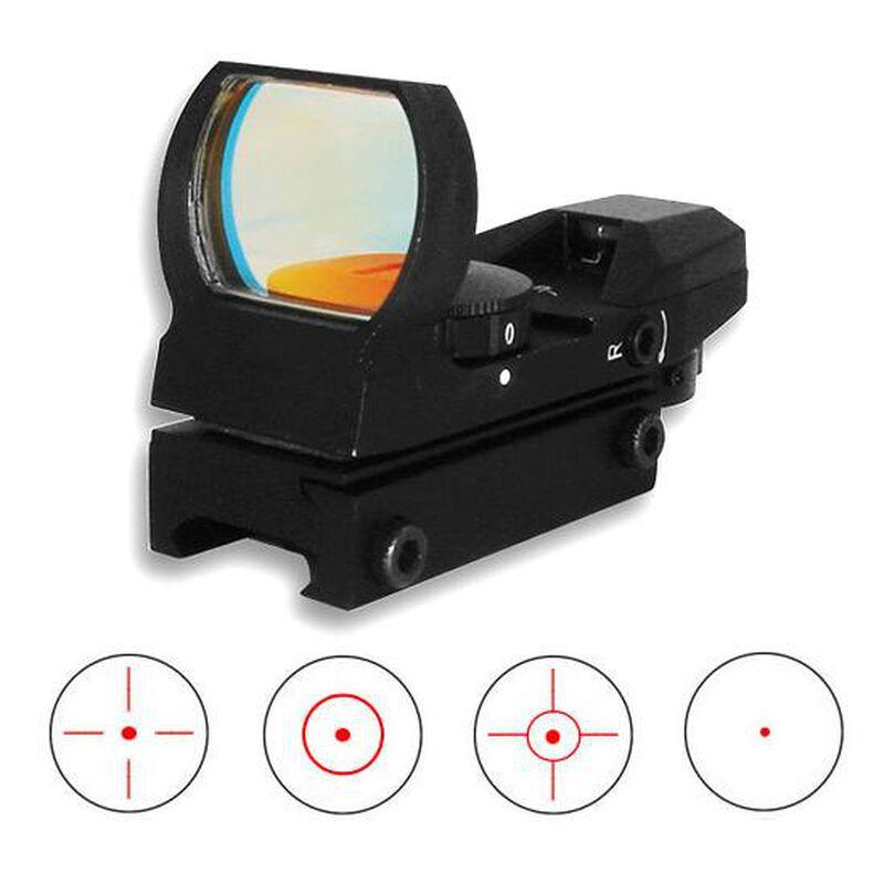 NcSTAR, Red Four Reticle Optic, Aluminum, Black