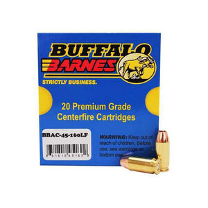 Buffalo Bore .45 ACP +P Ammunition 20 Rounds Barnes TAC-XP 160 Grain 45-160LF/20